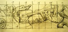 section 3 of the mural design showing a capstan, being used to'warp' a ship into dry dock for repair.