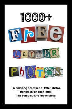 FREE Photo Letters on a flicker gallery Alphabet Photography Letters, Alphabet Photos, Letter Photography, Photo Letters, Alphabet Art, Letter Art, Preschool Alphabet, Letter Tracing, Alphabet Crafts