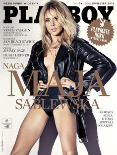 Playboy (Poland) April 2015  with Maja Sablewska on the cover of the magazine
