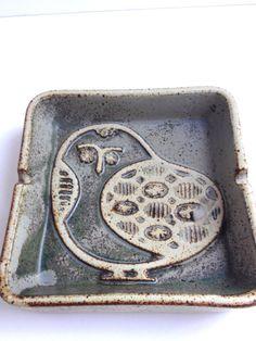 Scandinavian Bird Tray from WhitehornVintage bird dish tray pottery ceramic swedish scandinavian