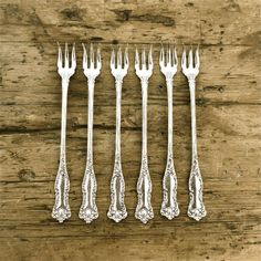Antique Silverplated Fork Six Seafood by RosaMeyerCollection, $66.00
