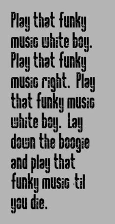 Wild Cherry - Play That Funky Music - song lyrics, music lyrics, song quotes, music quotes, songs
