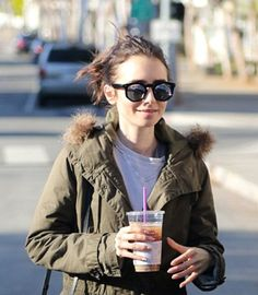 Lilly Collins wears Perverse Sunglasses- Duke