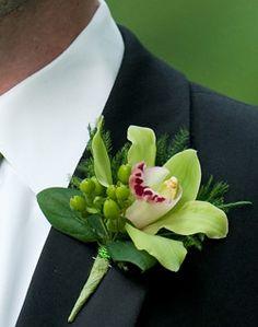 weddingchannel galleries green and white garden boutonniere - Boutonnire Invit Mariage