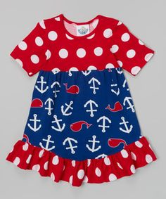 Love this Blue Whales Tail Tee Dress - Toddler & Girls by Corky's Kids on #zulily! #zulilyfinds