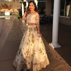 Image may contain: 1 person standing and wedding Indian fashion Indian Party Wear, Indian Wedding Outfits, Pakistani Outfits, Bridal Outfits, Indian Outfits, Indian Clothes, Indian Lehenga, Designer Bridal Lehenga, Dress Indian Style