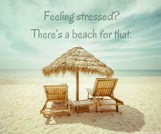 Feeling stressed? There's a beach for that.