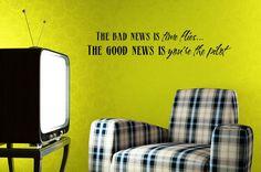 Vinyl Lettering Wall Decal   The bad news is by DesignDivasWallArt, $9.95