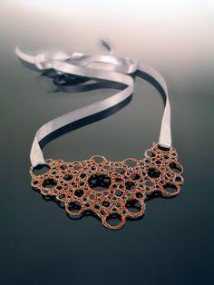 NIIRO jewelry   Entangled wire necklace
