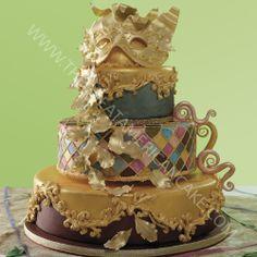 Bolo de Carnaval | Venetian Cake by Julie Deffense - Julie's Cakes - The Great American Cake <3