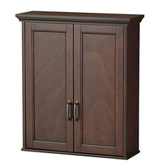 Windham Wall Cabinet with Two Glass Doors by Elegant Home Fashions ...