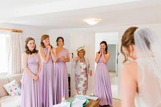 Wonderful reactions as the bride emerges from the Coach House dressing room. Photo credit http://maddiewaters.co.uk
