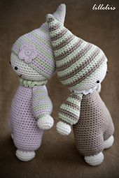 Crochet your little one the cutest baby-doll ever, so she can feel the warmness of her moms heart every day!