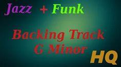 funk jazz guitar backing track g minor - YouTube