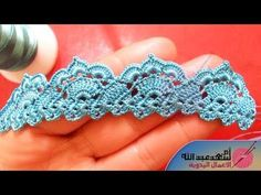 If you looking for a great border for either your crochet or knitting project, check this interesting pattern out. When you see the tutorial you will see that you will use both the knitting needle and crochet hook to work on the the wavy border. Crochet Edging Patterns, Crochet Lace Edging, Crochet Borders, Filet Crochet, Irish Crochet, Crochet Designs, Crochet Flowers, Diy Crochet And Knitting, Crochet Videos
