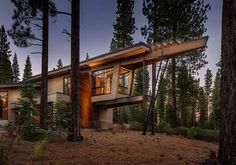 Modern mountain home in the high Sierras: Flight House