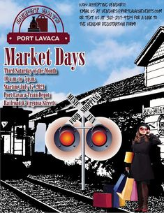 #portlavaca #poerlavacatx #portlavacatexas #calhouncounty #marketdays #portlavacadepotdays Port Lavaca, Local Events, Calendar, Train, Life Planner, Strollers