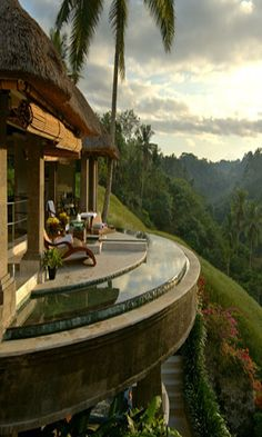 "Panaromic view, Viceroy Bali on the ridge of Petanu River, called Bali's ""Valley of the Kings"" Travel and #save 50% on airfare with #AirConcierge.com"