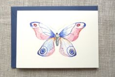 Blank greeting card  Watercolor  Butterfly by HummingHeart on Etsy, €2.50