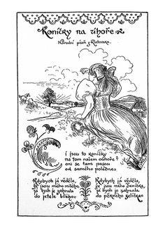 Mikoláš Aleš: Koníčky na úhoře http://www.herbia.cz/products-page/pohlednice/umelecke/page/9/
