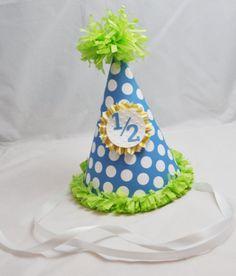 1 2 Birthday Hat By CardsandMoorebyTerri On Etsy 1000 Half Cakes 2nd