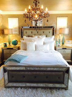 The bed (headboard)