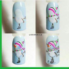 Nail Art Noel, Holiday Nail Art, Xmas Nails, Winter Nail Art, Christmas Nail Designs, Christmas Nail Art, Winter Nails, Acrylic Nail Designs, Nail Art Designs