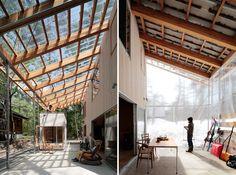 La serre, extension de l'habitat, intrusion de l'environnement, un entre deux adaptable aux saisons // naka architects villa in hakuba designboom