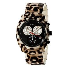 Heraclitus Chronograph Women's Watch. Love leopard print!