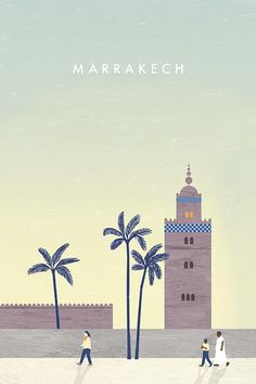 Marrakech Travel Poster by Katinka Reinke