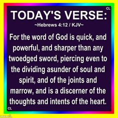 For the WORD of GOD is quick, and Powerful and more Blessings! Biblical Quotes, Bible Verses Quotes, Bible Scriptures, Faith Quotes, Thy Word, Word Of God, Philippians 4, Todays Verse, Dios