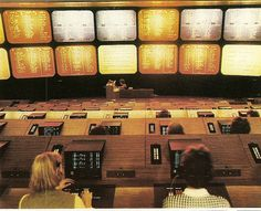 Mission Control, 1973 / Actually the control room for the TAB betting company!