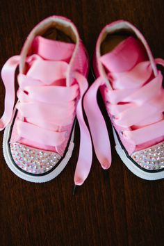 Toddler HiTop Pink Converse Chuck Taylor's With by shopurbanbabyco, $67.00