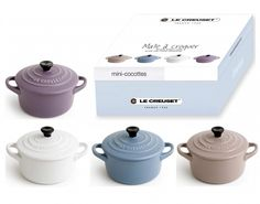 Le Creuset Mini-Cocotten Matt, 4er Set - KochForm