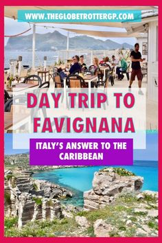 Trapani to Favignana - a day trip to europe's own caribbean. Cinque Terre, Best Places In Italy, Things To Do In Italy, Sicily Travel, Rome Travel, Europe Holidays, Italy Holidays, Amalfi Coast, Top Travel Destinations