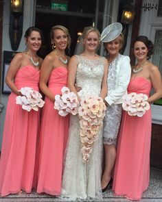 Stunning Wedding Bouquets with Peach  Palaenopsis Orchids
