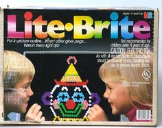 Back when toys had a 100 watt light bulb that would burn your skin off if you weren't careful. Lite Brite, Grunge, Presents For Mom, Indie, Retro Toys, Vintage Toys, Vintage Stuff, Retro Vintage, Electronic Toys