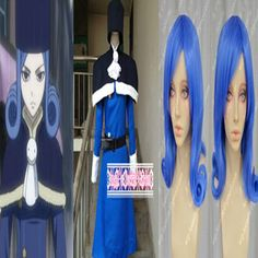 Cheap cosplay dress, Buy Quality clothes candy directly from China clothes online free shipping Suppliers: 						ITEM: Custom-made Fairy Tail Juvia Lockser Cosplay Clothes With Wig Costume 	Full Set:Tippet+Dress+Belt+Hat+W