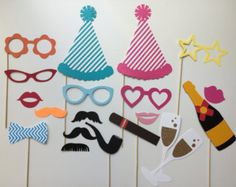 Birthday Celebration Birthday Photo Booth Props Holiday Photobooth Props Set of 20