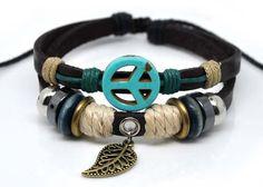 Adjustable Couple bracelets Cuff made of Black by sevenvsxiao, $8.00