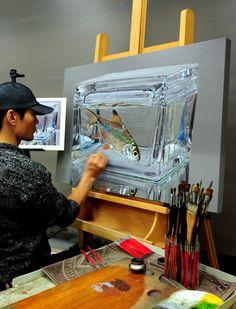 Progress^^ 오랜만에 작은그림. #김영성 #극사실 #물고기 #개구리 #달팽이 #극사실주의 #현대미술 #ykim #YoungsungKim #Hyperrealism #hyperrealistic #oil #painting #drawing #contemporary #art #handpainted #environment #frog #snail #insect #goldfish #animal #sculpture #museum #artgallery #gecko #waterfallgallery #plusonegallery #redseagallery