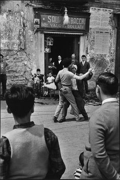 "1bohemian: ""René Burri - Napoli Street Dancers (Teatro di strada), 1956 """" """