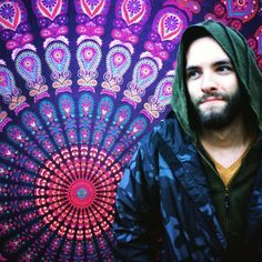 #mandala #tapestry #art #indiantapestry #bohemian #gypsy #hoodie #elf #woods #beard #movember #psydeco #music #hippie #hippiefashion #hippielife #psychedelic #norge #norway #psytrance #psychedelictrance #musicfestival #goa #goatrance #psychedelicmusic