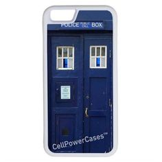 CellPowerCasesTM Doctor Who Tardis iPhone 6 (4.7) Protective V1 White... ($13) ❤ liked on Polyvore featuring accessories, tech accessories and white