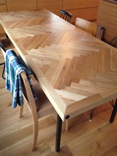 herringbone oak table // special order // House of nakano