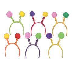 Soft-Touch Pom-Pom Party Boppers assorted colors (12ct)