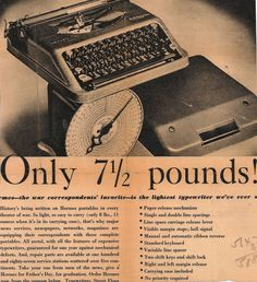 Great article on the love of the typewriter