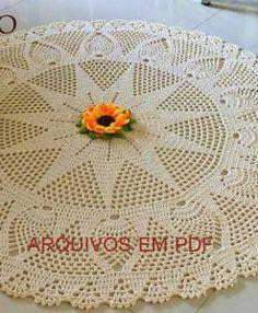 Tapete redondo com flor girassol