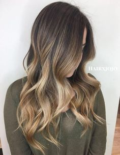 artial Highlights Ideas for Brunettes 6 - Light Brown Partial Ombre - Ombre hairstyles