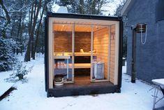 Sauna in container by Robuust Architecten for bouwjeeigensauna.com